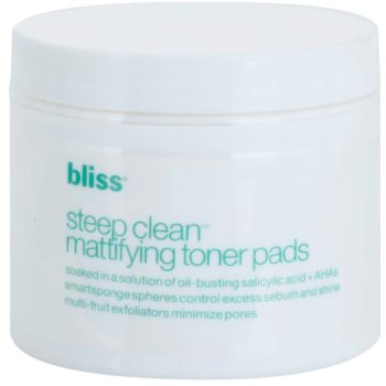 Bliss Skin Care Exfoliating Mattifying and Pore-Minimising Pads (with Salicylic Acid + AHA) 50 pc BLSSCRW_KCLW10