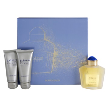 Boucheron Jaipur Homme Gift Set II. EDP 3,4 oz + Aftershave Balm 3,4 oz + Shower Gel 3,4 oz