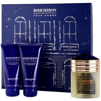 Boucheron Pour Homme Gift Set I. EDP 3,4 oz + Aftershave Water 3,4 oz + Shower Gel 3,4 oz
