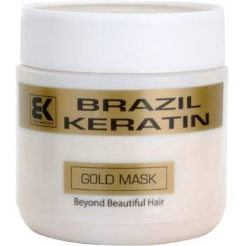 Brazil Keratin Gold Keratin Restore Mask For Damaged Hair (Mask) 17 oz BRKGLDW_KMSQ10