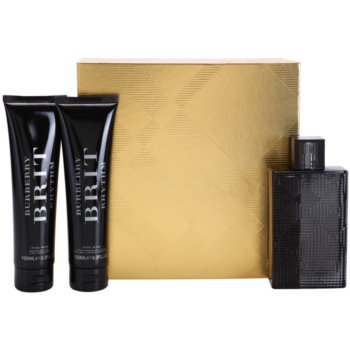 Burberry Brit Rhythm Gift Set EDT 3 oz + Shower Gel 3,4 oz + Aftershave Balm 3,4 oz