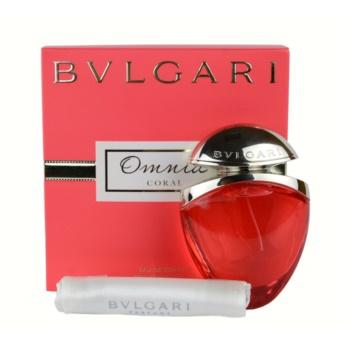 Bvlgari Omnia Coral EDT for Women 0.8 oz + Satin Bag