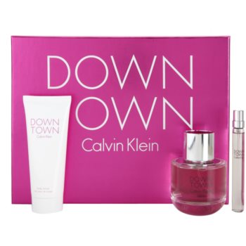Calvin Klein Downtown Gift Set IV. EDP 90 ml + Body Milk 100 ml + EDP 10 ml