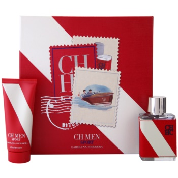 Carolina Herrera CH CH Men Sport Gift Set EDT 1,7 oz + Aftershave Balm 3,4 oz