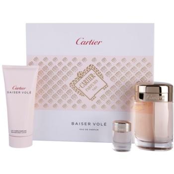 Cartier Baiser Vole Gift Set EDP 3,4 oz + Body Milk 3,4 oz + EDP 0,02 oz