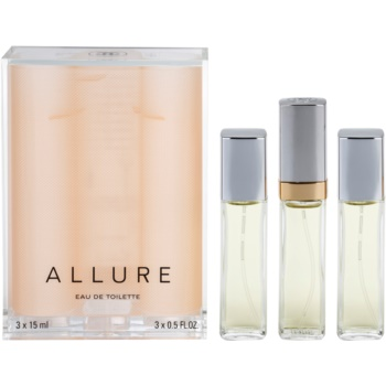 Chanel Allure EDT for Women 1.5 oz (1x Refillable + 2 x Refill)