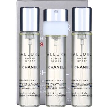 Chanel Allure Homme Sport Eau Extreme EDP for men 3 x 0.7 oz Refill