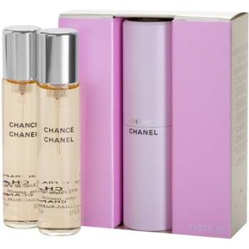 Chanel Chance EDT for Women 3x0.7 oz (1x Refillable + 2 x Refill)