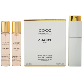 Chanel Coco Mademoiselle EDT for Women 3x0.7 oz (1x Refillable + 2 x Refill)