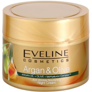 Eveline Cosmetics Argan & Olive Nourishing Night Cream Anti Wrinkle  1.7 oz EVEAOLW_KNCR10