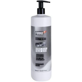 Fudge Detox Deep Cleanse Clarifying Shampoo With Moisturizing Effect (Removes Product and Not Moisture) 34 oz FDGDTXW_KSHA10