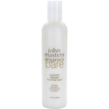 John Masters Organics Bare Unscented Detangler For All Hair Types Without Perfume  8 oz JHMBARW_KCND10