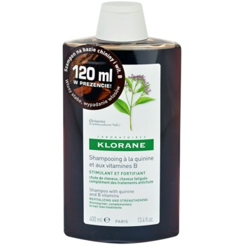 Klorane Quinine Energising Shampoo For Weak Hair (Revitalizing and Strengthening Thinning Hair, Complementary to Hair Loss Treatments) 13.5 oz KLOQUIW_KSHA10