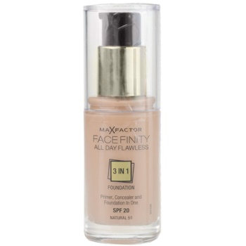 Max Factor Facefinity Foundation 3 In 1 Color 50 Natural SPF20 (All Day Flawless) 1 oz MXFFACW_KMUP80