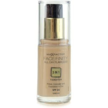 Max Factor Facefinity Foundation 3 In 1 Color 60 Sand SPF20 (All Day Flawless) 1 oz MXFFACW_KMUP87