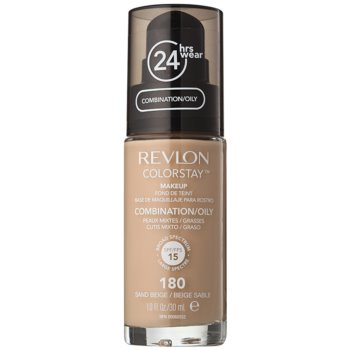Revlon Cosmetics ColorStay™ Long-Lasting Mattifying Makeup SPF 15 Color 180 Sand Beige 1 oz RESCONW_KMUP78