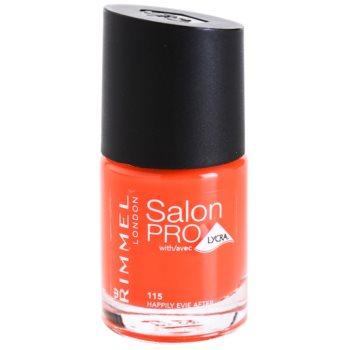 Rimmel Salon Pro Nail Polish With Lycra Color 115 Hapily Evie After 0.4 oz RIMSPRW_KLAQ20