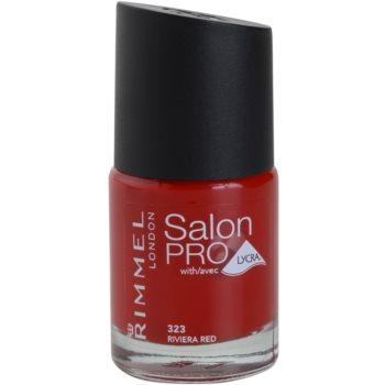 Rimmel Salon Pro Nail Polish With Lycra Color 323 Riviera Red 0.4 oz RIMSPRW_KLAQ32
