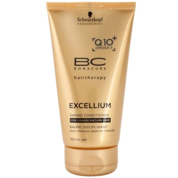 Schwarzkopf Professional BC Bonacure Excellium Taming Conditioner for Coarse and Mature Hair (Exclusive Age-Defying Formula Combining Q10+ and Omega 3) 5.0 oz SCWEXTW_KCND10
