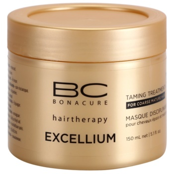 Schwarzkopf Professional BC Bonacure Excellium Taming Mask for Coarse Mature Hair (Exclusive Age-Defying Formula Combining Q10+ and Omega 3) 5.0 oz SCWEXTW_KMSQ10