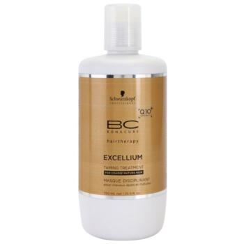 Schwarzkopf Professional BC Bonacure Excellium Taming Mask for Coarse Mature Hair (Exclusive Age-Defying Formula Combining Q10+ and Omega 3) 25.4 oz SCWEXTW_KMSQ20