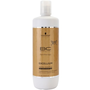 Schwarzkopf Professional BC Bonacure Excellium Taming Shampoo for Coarse Mature Hair (Exclusive Age-Defying Formula Combining Q10+ and Omega 3) 34 oz SCWEXTW_KSHA20