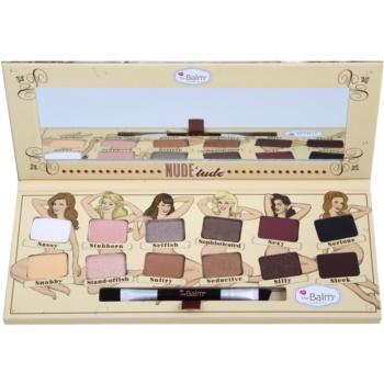 theBalm Nude Tude Eye Shadow Palette With Brush (Nude Eyeshadow Palette) 0.39 oz TBANTUW_KEYS10