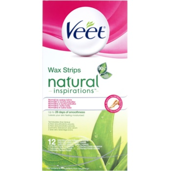 Veet Natural Inspirations Depilatory Wax Strips For Normal And Dry Skin 12 pc VEENAIW_KWAX10