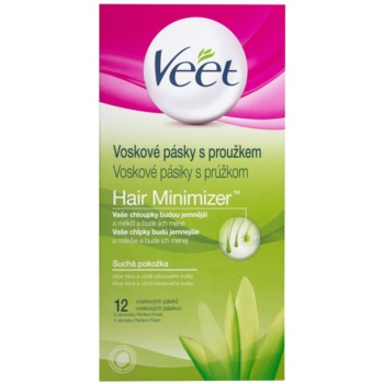 Veet Wax Strips Depilatory Wax Strips For Dry Skin (Aloe Vera & Parfum of the Lotus Flower) 12 pc VEEWASW_KWAX20