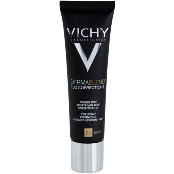 Vichy Dermablend 3D Correction Corrective Smoothing Foundation SPF 25 Color 25 Nude (Corective Resurfacing Active Foundation 16 hr) 1 oz VCHD3DW_KMUP25