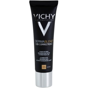 Vichy Dermablend 3D Correction Corrective Smoothing Foundation SPF 25 Color 35 Sand (Corective Resurfacing Active Foundation 16 hr) 1 oz VCHD3DW_KMUP35