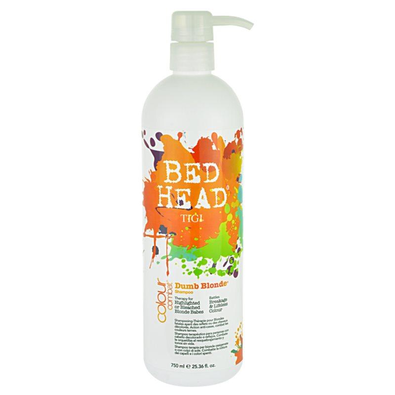 tigi bed head colour combat dumb blonde shampoo f r blonde haare. Black Bedroom Furniture Sets. Home Design Ideas