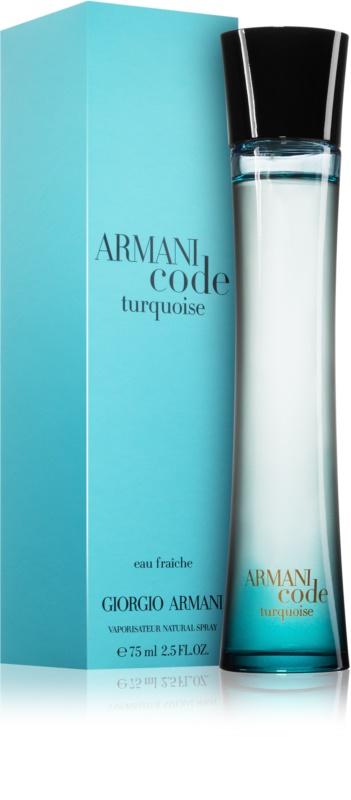 Armani code turquoise saphir hombre