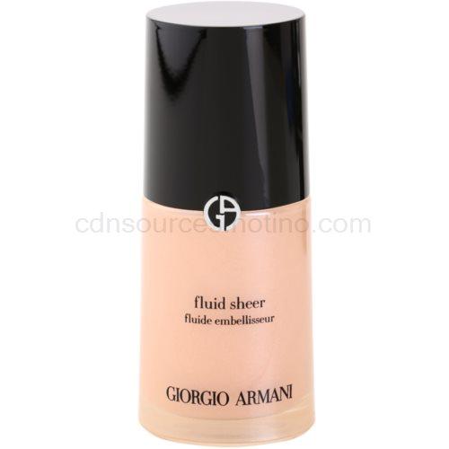 Armani Fluid Sheer rozjasňující make-up odstín 02 Peach 30 ml