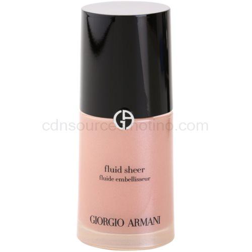 Armani Fluid Sheer rozjasňující make-up odstín 11 Old Pink 30 ml