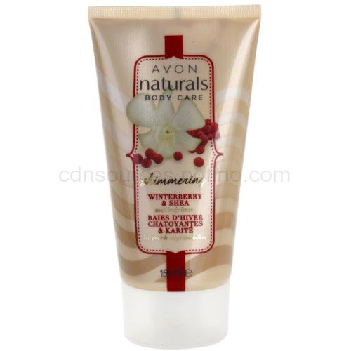 Avon Naturals Body třpytivé tělové mléko s cesmínou a bambuckým máslem Winterbberry And Shea (Shimmering Body Milk) 150 ml