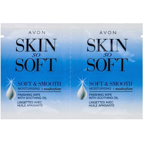 Avon Skin So Soft Smooth voskové depilační pásky na obličej (Moisturizing Wax Strip Kit For Face) 10x2 Ks