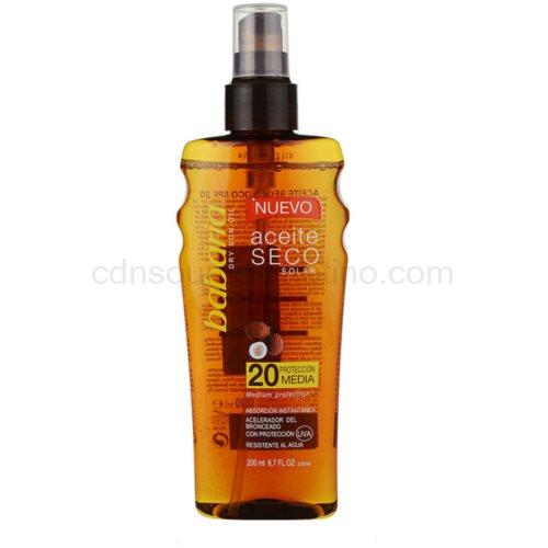 Babaria Sun Aceite Solar suchý olej na opalování SPF 20 200 ml