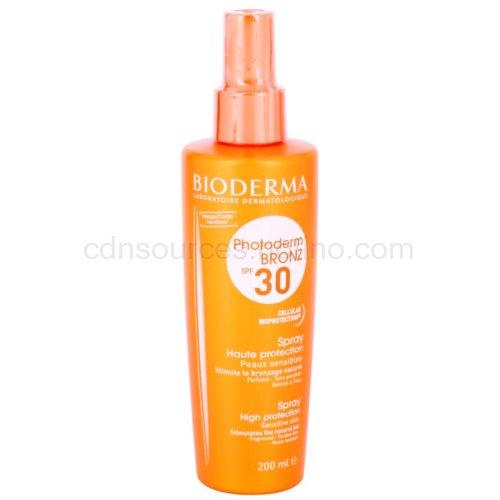 Bioderma Photoderm Bronz ochranný sprej podporující a prodlužující přirozené opálení SPF 30 (Fragranced, Paraben-Free, Water-Resistant) 200 ml