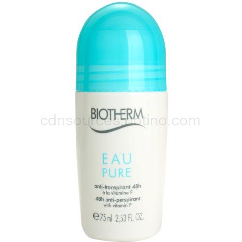 Biotherm Eau Pure antiperspirant roll-on s 48hodinovým účinkem (48h anti-perspirant with vitamin F) 75 ml