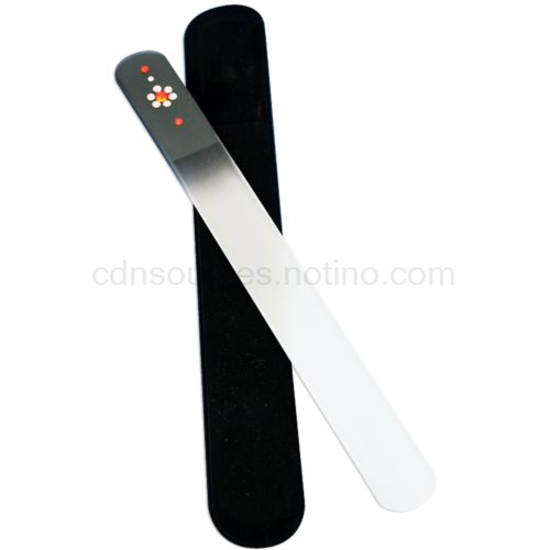 Bohemia Crystal Swarovski Big Nail File with Flower pilník na nehty Black (Big Coloured Nail File with Swarovski Flower)