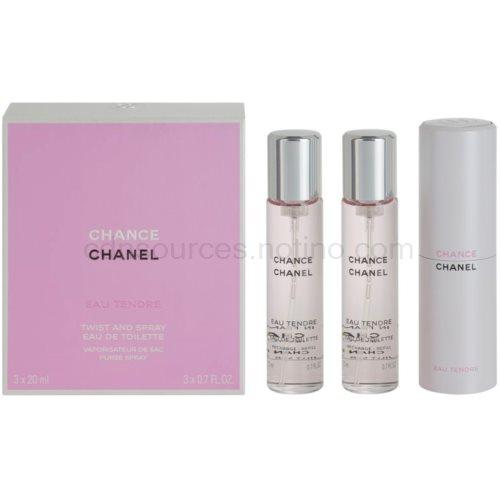 Chanel Chance Eau Tendre 3 x 20 ml (1x plnitelná + 2x náplň) toaletní voda