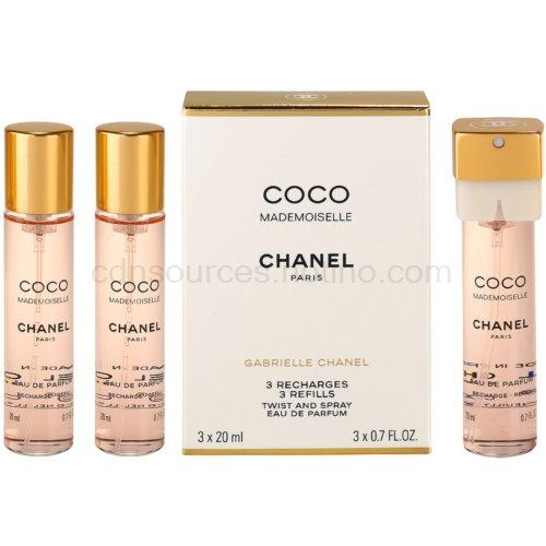 Chanel Coco Mademoiselle 3x20 ml (3 x náplň) parfémovaná voda