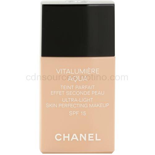 Chanel Vitalumiére Aqua ultra lehký make-up pro zářivý vzhled pleti odstín 40 Beige SPF 15 30 ml
