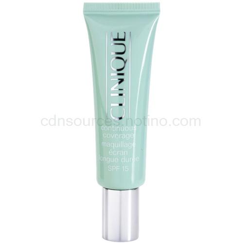 Clinique Continuous Coverage make-up pro suchou a smíšenou pleť odstín 01 Porcelain Glow SPF 15 30 ml