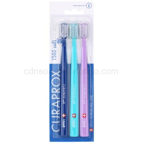 Curaprox 1560 Soft zubní kartáčky 3 ks