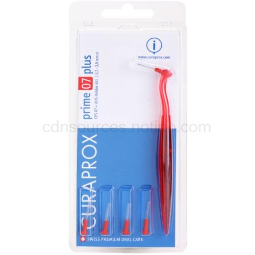 Curaprox Prime Plus náhradní mezizubní kartáčky 5 ks + držák CPS 07 Red 0,7 - 2,5 mm