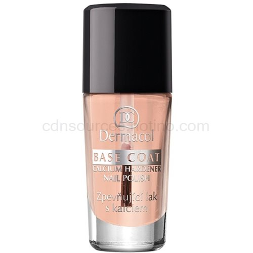 Dermacol Base Coat zpevňující lak na nehty (Calcium Hardener Nail Polish) 10 ml