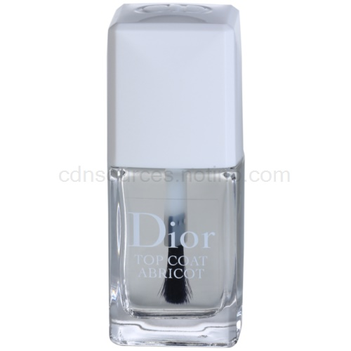 Dior Top Coat Abricot rychleschnoucí vrchní lak na nehty (Sets and Speed-dries Nail Enamel) 10 ml