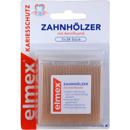 Elmex Caries Protection dentální párátka (Toothpick) 3 x 38 Ks